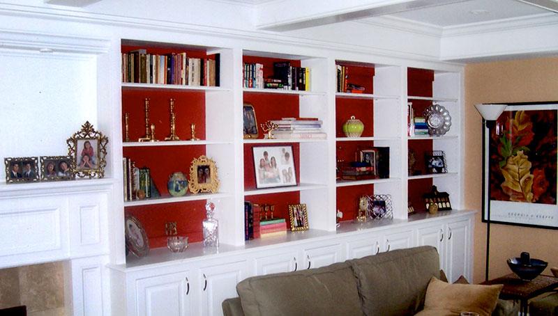 Custom built in bookcases